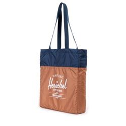 [허쉘]- PACKABLE TRAVEL TOTE (CaramelNavy)