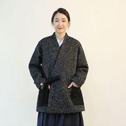 한복 두루마기 - 바대 울 코트 [멜란지]