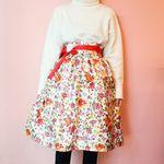 꽃 양단 허리치마