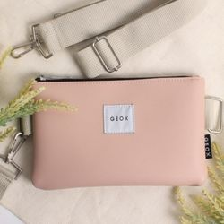 GEOX MELL CLUTCH&CROSS PEACH 멜클러치앤크로스백
