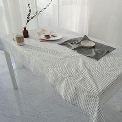 모코 식탁보 - 화이트 2인(110X110)