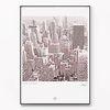 메탈 도시 건물 포스터 액자 뉴욕 시티 [대형]