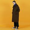 Oversize coat-brown