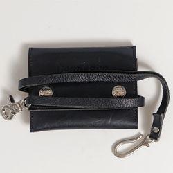 DEMONADE matte leather strap wallet(BLACK)