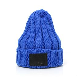 DEMONADE leather name BEANIE (BLUE)