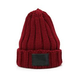 DEMONADE leather name BEANIE (WINE)