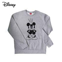 디즈니 앵그리 미키 맨투맨 티셔츠기모그레이정품