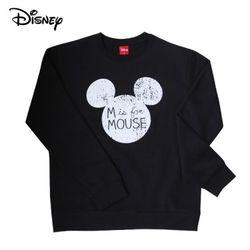 디즈니 마우스 미키 맨투맨 티셔츠기모블랙정품