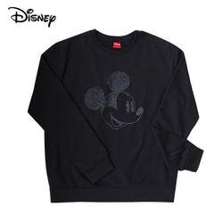 디즈니 스마일 미키 맨투맨 티셔츠기모블랙정품