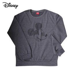 디즈니 스마일 미키 맨투맨 티셔츠기모먹색정품