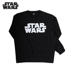 스타워즈 로고티 맨투맨 티셔츠기모STARWARS블랙정품