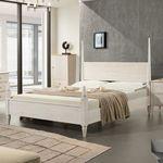 올리비아 침대프레임 (퀸침대) 아이보리