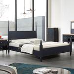 올리비아 침대프레임 (퀸침대) 네이비