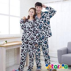 intarsia 스머지카우 커플 밍크잠옷