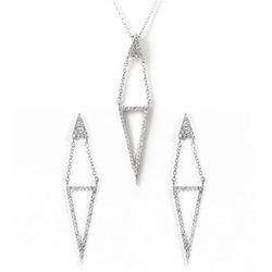 MINUVO SILVER TRIANGLE SET