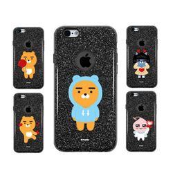 카카오 블랙 반짝이 젤리 아이폰6(s)플러스 케이스