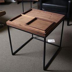 [퍼니매스] 월넛 트레이 소파테이블