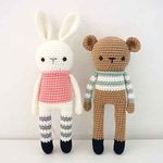 손뜨개DIY-곰양과 토끼군 인형 만들기 kit