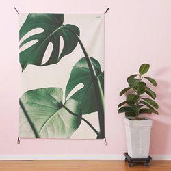 초대형 보테니컬 태피스트리. 식물 패브릭 포스터