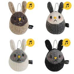 양말인형 딸랑이 토끼 인형(색상선택)