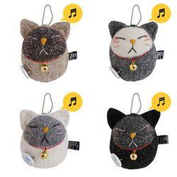 양말인형 방울 고양이 인형(색상선택)