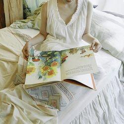 에일린 잠옷 : Eileen night dress + pants SET