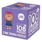 라인프렌즈 큐브 직소퍼즐 108조각 초코
