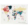 패브릭 포스터 F015 북유럽 세계지도 Color [중형]
