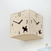 (ktk075)친환경자작나무 삼면시계 (도트)