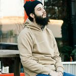 RUSSELL PULLOVER HOODY LOGO - SAND