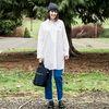 OLIVIA WOMENS SHIRT DRESS CACTUS - WHITE