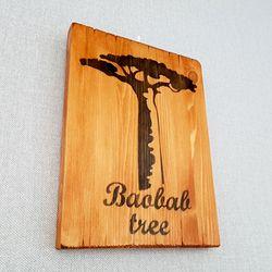 바오밥나무 원목 그림액자  170x230mm