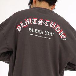 BLESS YOU LAYERED SWEATSHIRT CHARCOAL