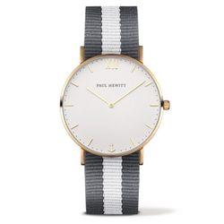 폴휴잇 Sailor 화이트 골드 나토 그레이 화이트 시계