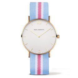 폴휴잇 Sailor 화이트 골드나토 블루화이트 핑크 시계