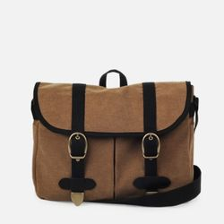 Vintage Mail Bag - Wax Canvas Camel