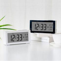 심플 클래식 타임 시간 달력 온도탁상시계