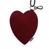 Melting Felt Heart card pocket (버건디)