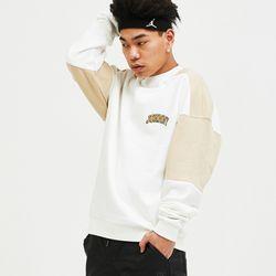 자니카슨 컬러블럭 스웨트셔츠- WHITE