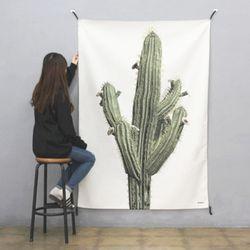 초대형 선인장 태피스트리. 식물 패브릭 포스터