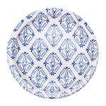 블루세라믹 패턴 종이접시 S (10p)