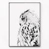 메탈 북유럽 풍수지리 부엉이 액자 White owl [대형]