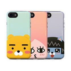 카카오프렌즈 펄 얼굴 이중범퍼 아이폰5(s).SE 케이스