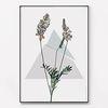 메탈 꽃 식물 액자 기하학 세모 라벤더 [대형]