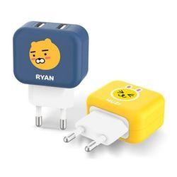 카카오프렌즈 USB 2포트 가정용 충전기(2.4A)