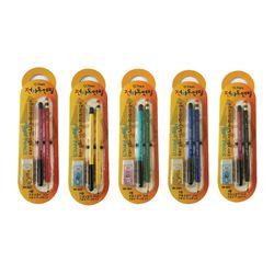 전자동연필 세트 + 지우개 (옐로우)