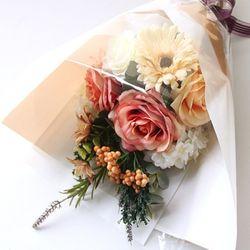 투톤오렌지 장미꽃다발