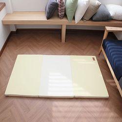 크누트 놀이방 폴더매트 3단 옐로우 단품 80X180X4
