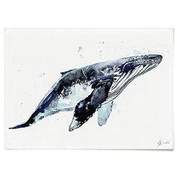 패브릭 천 포스터 F018 동물 그림 고래 [중형]