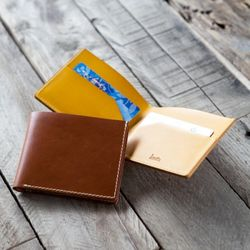 3220 Slim Bifold Wallet Buttero -각인